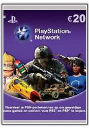 Game cover PlayStation Network Card 20 Euro